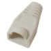 Microconnect Boots RJ-45 Plugs White White