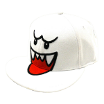 Nintendo Super Mario Bros. Boo Flex Fit Baseball Cap, One Size, White (BI151978NTN)