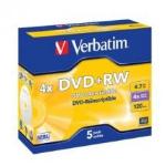 Verbatim DVD+RW 4.7GB DVD+RW 5pc(s)