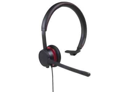 AVAYA L129 HEADSET HEAD-BAND MONAURAL BLACK,RED