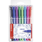 Stabilo SENSOR Black,Blue,Green,Lilac,Pink,Red,Turquoise 8pc(s) fineliner