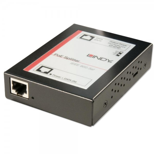 Lindy 25053 Power over Ethernet (PoE) Black network splitter