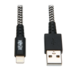 "Tripp Lite M100-010-HD lightning cable 118.1"" (3 m) Black,White"