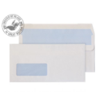 Blake Value Wallet S/S Window DL 110x220mm 90gsm White PK1000