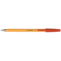 Q-CONNECT KF34048 Stick ballpoint pen Fine Red 20pc(s) ballpoint pen
