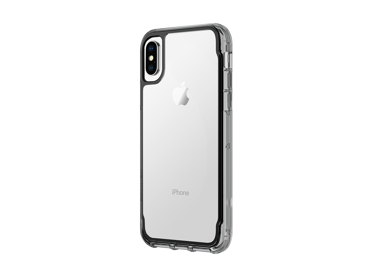 Griffin Survivor - Back cover for mobile phone - polycarbonate, thermoplastic polyurethane - clear,