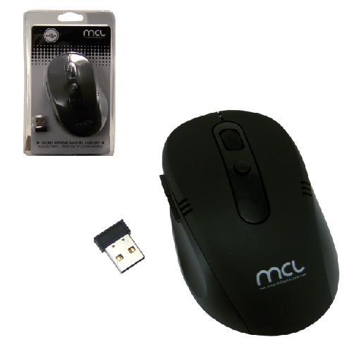 MCL SS-515W ratón RF inalámbrico Óptico 1600 DPI Negro
