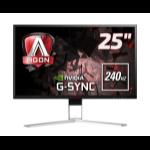 """AOC Gaming AG251FG pantalla para PC 62,2 cm (24.5"""") 1920 x 1080 Pixeles Full HD LED Plana Negro, Rojo"""