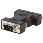 Lindy 71245 cable gender changer VGA DVI-A Black