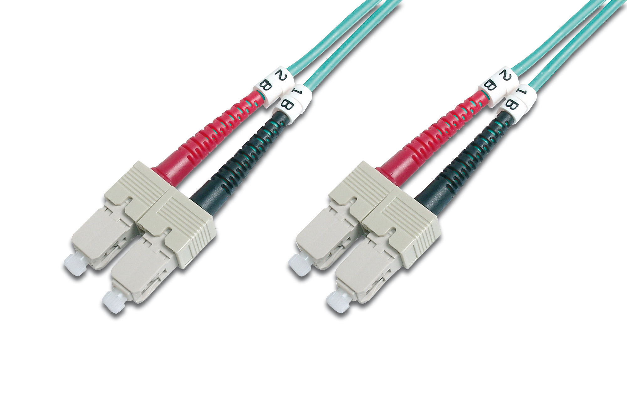 Fiber Optic Patch Cord, SC to SC Multimode 50/125 µ, Duplex Length 10m, Class OM3