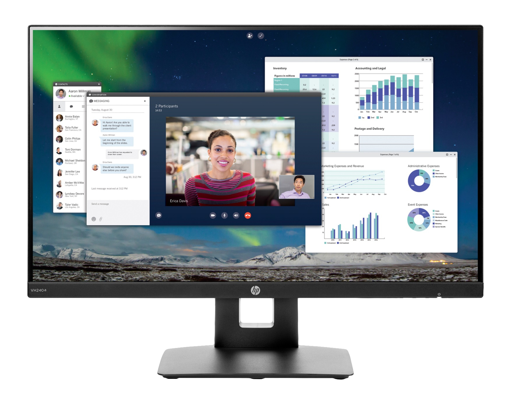 HP VH240a 23.8-inch Monitor