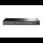TP-LINK T1500-28PCT network switch Managed L2 Fast Ethernet (10/100) Black 1U Power over Ethernet (PoE)