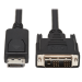 Tripp Lite DisplayPort-to-DVI Antibacterial Cable (M/M), DVI-D Single Link, 1920 x 1200 @ 60 Hz, Black, 6-ft. (1.83 m)