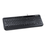 Microsoft Wired 600, Black keyboard USB QWERTY UK International