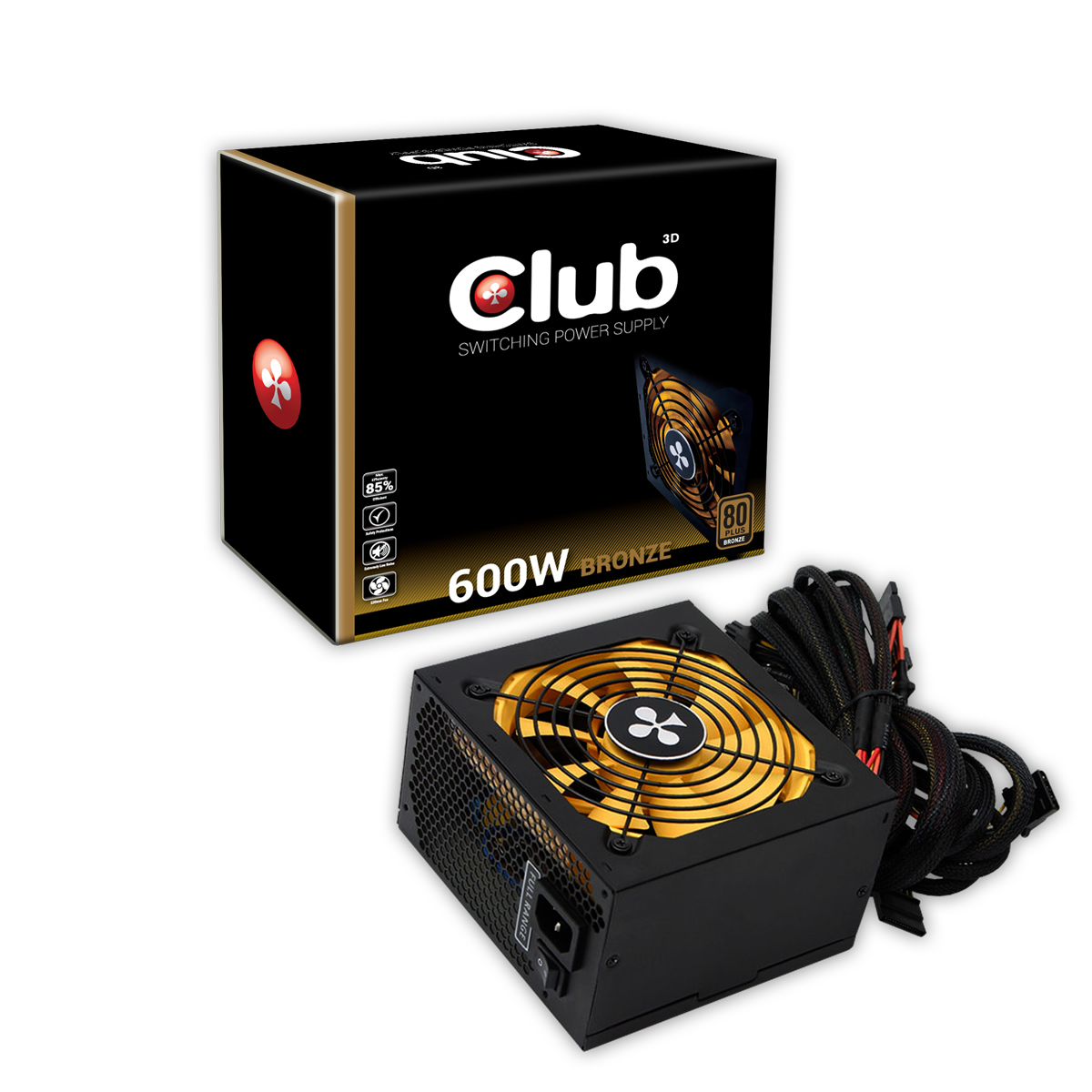 CLUB3D CSP-S600 power supply unit