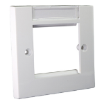 Cablenet Flush Faceplate 86mm x 86mm with Labelling Window Single Gang