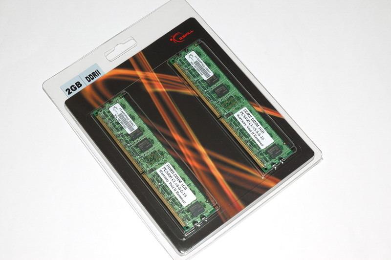 G.Skill 2048MB (2x1024MB) PC2-5400 2GB DDR2 667MHz memory module