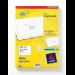 Avery J8161-100 self-adhesive label White 1800 pc(s)