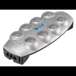 Eaton Protection Box 8 Tel@+TV FR Overspanningsbeveiliging 8 AC-uitgang(en) 220-250 V Zilver