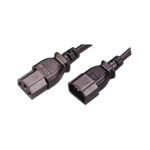 MCL Cable Electric male/female 2m cable de transmisión Negro
