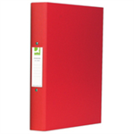 Q-CONNECT KF02008 Polypropylene (PP) Red ring binder