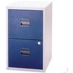 Bisley 2 Drawer A4 Home Filer Grey/Blue