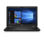 """DELL Latitude 5580 2.60GHz i5-7300U 15.6"""" 1366 x 768pixels Black Notebook"""