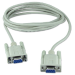 QVS CC2045-10N 3m DB9 DB9 White serial cable