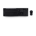 Logitech MK270 keyboard RF Wireless QWERTY Russian Black