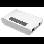Digitus 2 Port USB 2.0 Wireless Multi-Functional Network Server, 300 Mbps