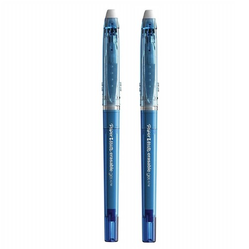Papermate Erasable Gel Capped gel pen Blue Medium 2 pc(s)