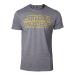 Star Wars Men's Outlines Logo T-Shirt, Large, Grey (TS728688STW-L)