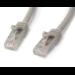 StarTech.com 3m Gray Gigabit Snagless RJ45 UTP Cat6 Patch Cable - 3 m Patch Cord