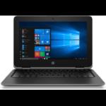 "HP EliteBook x360 11 G3 DDR4-SDRAM Hybrid (2-in-1) 11.6"" 1366 x 768 pixels Touchscreen Intel® Celeron® 4 GB 128 GB SSD Wi-Fi 5 (802.11ac) Windows 10 Home Gray"