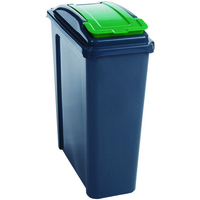VFM RECYCLING BIN WITH LID 25 LTR GRN