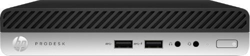 HP ProDesk 400 G5 DDR4-SDRAM i3-9100T mini PC 9th gen Intel® Core™ i3 8 GB 256 GB SSD Windows 10 Pro Black, Silver