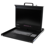StarTech.com 1U (17 inch) HD 1080p Rackmount LCD Console with Front USB Hub