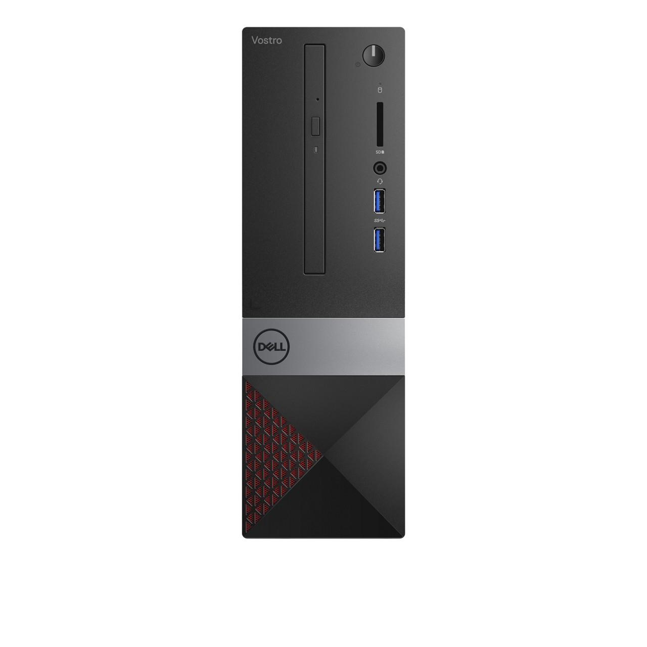 DELL Vostro 3470 Intel® 8ste generatie Core™ i3 i3-8100 4 GB DDR4-SDRAM 128 GB HDD Zwart, Grijs, Rood SFF PC