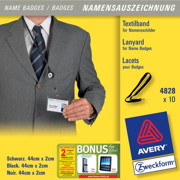 Avery 44 x 2 mm strap Black