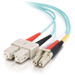 C2G 85533 3m LC SC Turquoise fiber optic cable