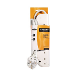 Belkin E-Series 4 Socket, 1-Metre SurgeStrip 4 AC outlet(s) 230 V White 1 m