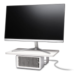 """KENSINGTON WELLNESS MONITOR STAND WITH DESK FAN FOR UP TO 27"""" MONITOR"""