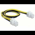 DeLOCK 65604 power cable Black,Yellow 0.3 m