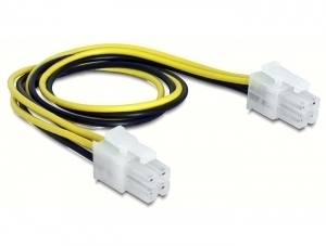DeLOCK 65604 power cable Black,Yellow 0.3 m