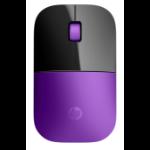 HP Z3700 RF Wireless Blue LED 1200DPI Ambidextrous Purple mice