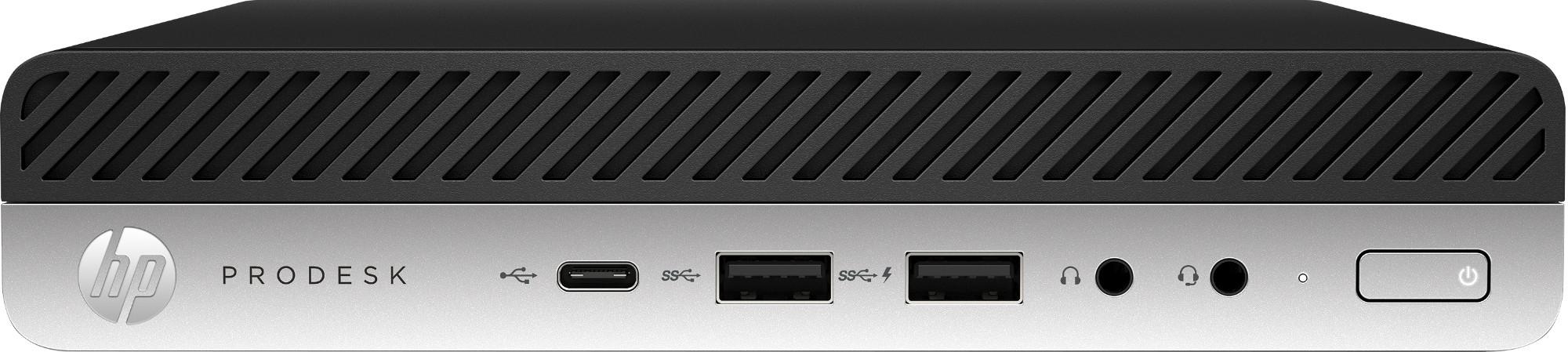 HP ProDesk 600 G5 9th gen Intel® Core™ i5 i5-9500T 8 GB DDR4-SDRAM 256 GB SSD mini PC Black Windows 10 Pro
