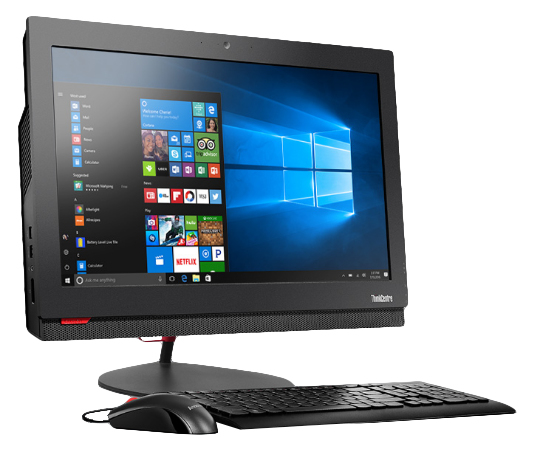 "Lenovo ThinkCentre M800z 3GHz i5-7400 21.5"" 1920 x 1080pixels Black All-in-One PC"