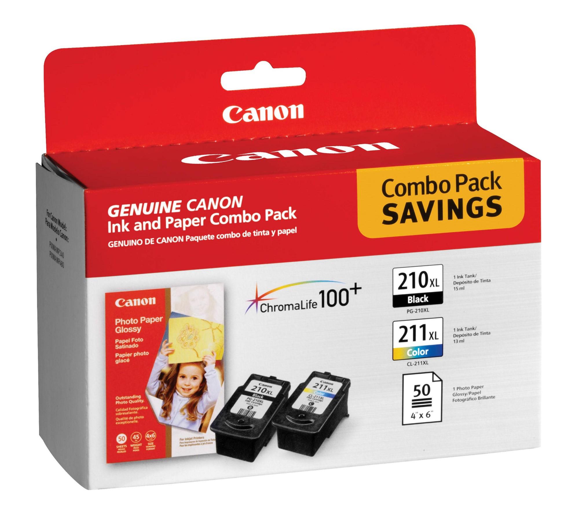 Canon Pg 210 Xl Cl 211 W Gp502 Black Ink Cartridge Tinta Hp 45 Original