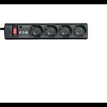 Eaton PS4D limitador de tensión 4 salidas AC 220 - 250 V Negro