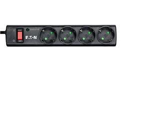 Eaton PS4D limitador de tensión 4 salidas AC 220 - 250 V Negro, Blanco 1 m